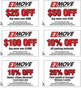 E-Z Move Tucson Moving Coupons.