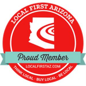 local first arizona proud member badge.