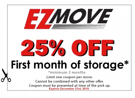 EZ Move 25% off coupon