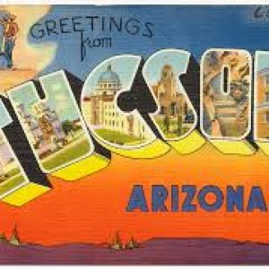 vintage graphic of tucson arizona