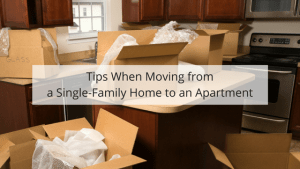 downsizing from a single family home to an apartment tips.