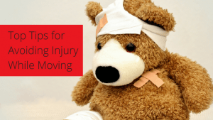 How to avoid injuring when moving short or long distance.