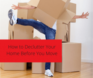 How to declutter your home before you move by EZ move.