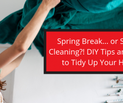 Spring Break… or Spring Cleaning?! DIY Tips and Tricks to Tidy Up Your Home