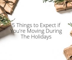 5 Things to Expect if You're Moving During The Holidays