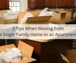 3 Tips When Moving from a Single-Family Home to an Apartment