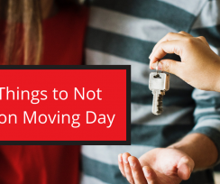 Four Things to Not Forget on Moving Day